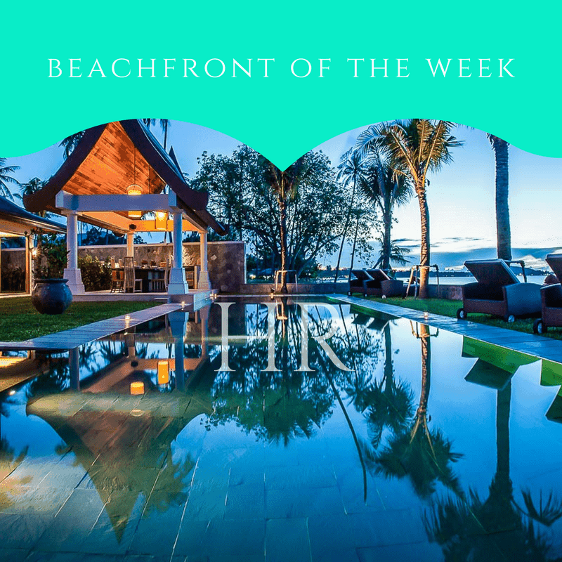 THE BEACHFRONT VILLA OF THE WEEK OCTOBER 6TH 2017