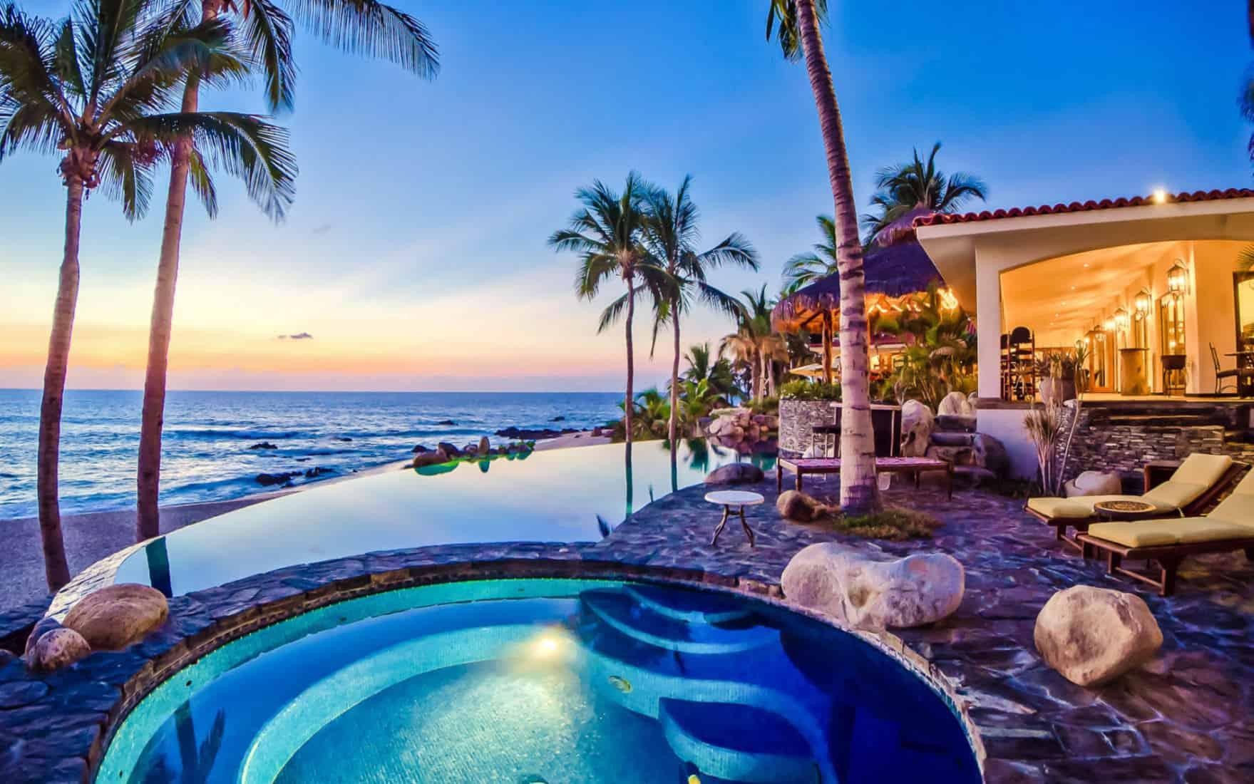 beachfront villa for rent