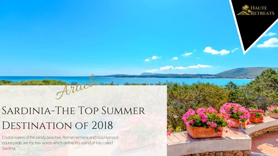 Sardinia-The Top Summer Destination of 2018
